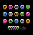 communication interface icons - gelcolor series vector image
