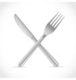 Cutlery crossing vector image vector image