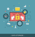 Data storage flat concept vector image vector image