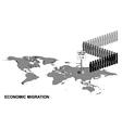 Economic migration vector image