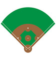flat green baseball grass field baseball base wit vector image vector image