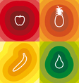 Four Fruits vector image vector image