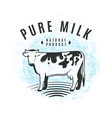 fresh milk from farm vector image
