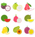fruit icons set 2 vector image vector image