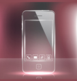 Futuristic glass cell phone vector image