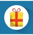 gift present bowtie market icon graphic vector image