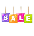 Hanging Sale Labels vector image vector image