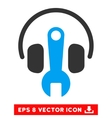 Headphones Tuning Wrench Eps Icon vector image