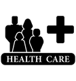 health care black icon vector image