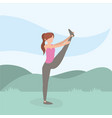 healthy woman lifestyle training sport vector image