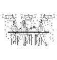 isolated men in celebration design vector image vector image