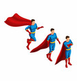 isometry is a set of 4 movements of superheroes vector image