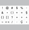 keyboard symbol set vector image vector image