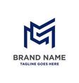 mc initial logo design vector image