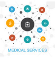 medical services trendy web concept with icons vector image vector image