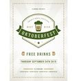 Oktoberfest beer festival typographic poster vector image vector image