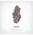 people map country Qatar vector image
