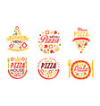 pizza house premium menu labels collection fast vector image vector image
