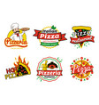 pizzeria and pizza restaurant vector image vector image