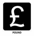 pound symbol vector image vector image