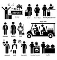 resort villa hotel tourist worker and services vector image