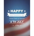 retro card for independence day america vector image