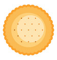 round biscuit icon flat style vector image vector image