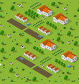 rural isometric natural vector image
