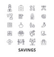 savings save money piggy bank money sale vector image