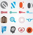 Set of alphabet symbols of letter O vector image vector image