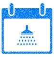 Shower Calendar Day Grainy Texture Icon vector image vector image
