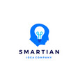smart human head think bulb idea logo icon vector image