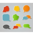 Speech Bubbles Stickers vector image