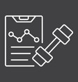 sport training program line icon fitness vector image vector image