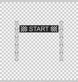 starting line icon isolated start symbol vector image