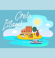 symbols greece and attractions on an invitation vector image vector image