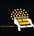 tablet with cryptocurrency vector image