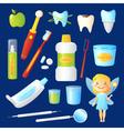 Teeth Care Set vector image vector image