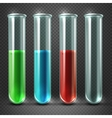 test tubes filled with liquids of different vector image vector image