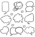 text balloon style hand draw collection vector image vector image