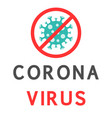 text with a stop sign against coronavirus vector image vector image