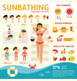 the girl sunbathes on the beach and tanning summer vector image vector image