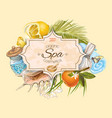 Tropic style spa banner vector image vector image