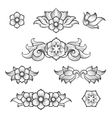 Vintage baroque engraving floral elements vector image vector image