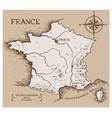 vintage map france vector image vector image
