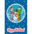 winter card congratulation new vector image vector image