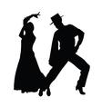 couple dance silhouette vector image