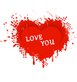 Valentines heart love you vector image