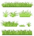 spring green grass borders set 3d vector image