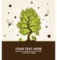 Stylized tree vector image